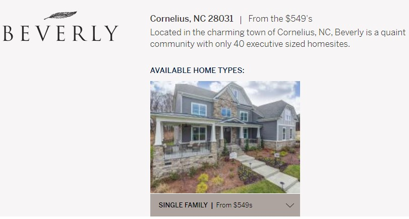 Beverly-Homes-for-Sale-Cornelius-NC-New-Construction